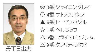 弥生賞2015丹下日出夫の印