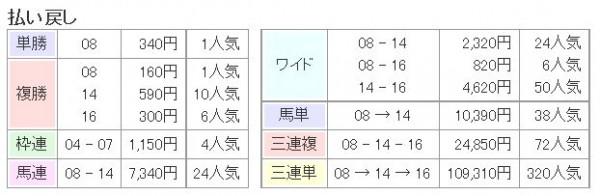 天皇賞秋2015払い戻し