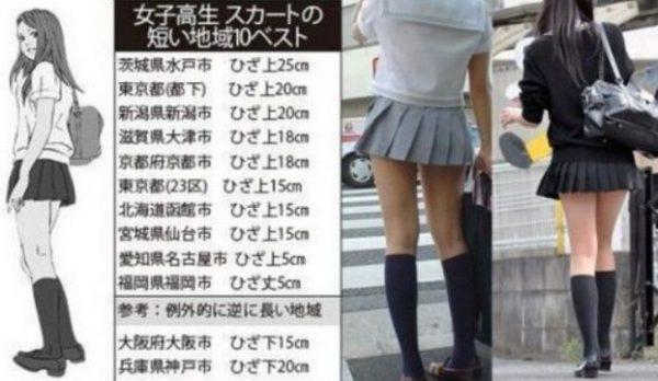 女子高生スカート短い