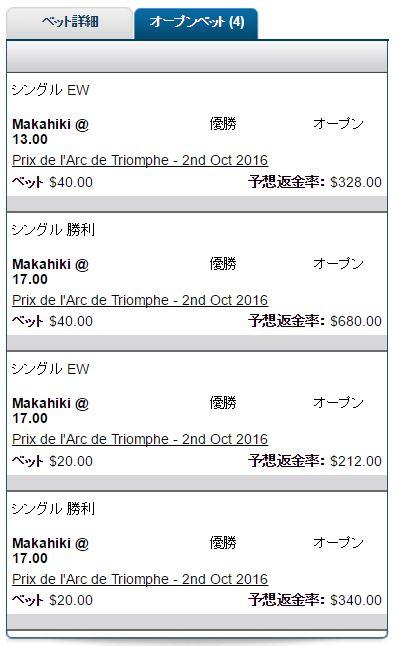 マカヒキ凱旋門賞馬券1